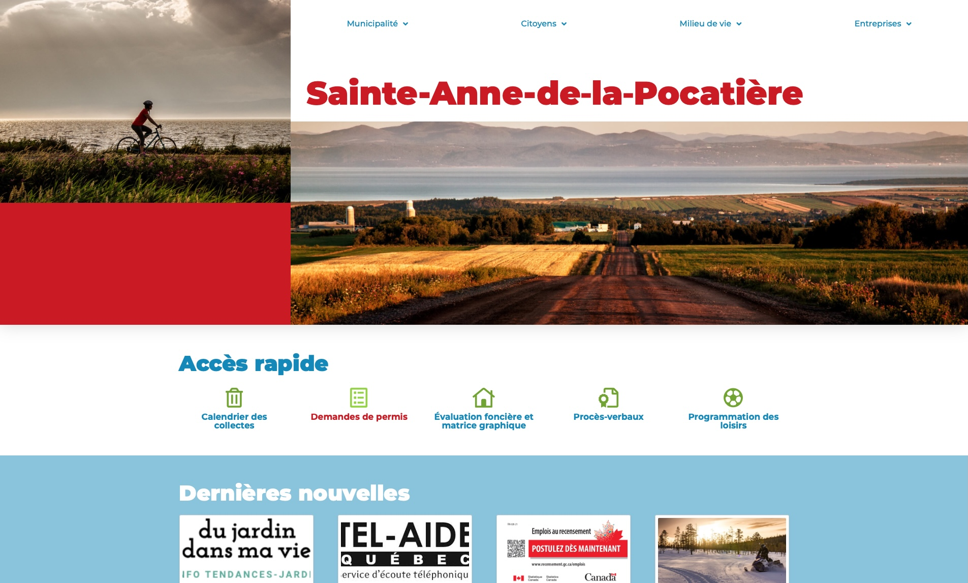 """Image mise en avant pour """"<strong>Un site internet renouvelé pour la municipalité de Sainte-Anne-de-la-Pocatière</strong>"""""""